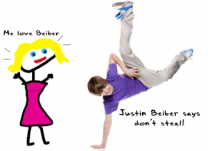 Justin Beiber doesn't steal